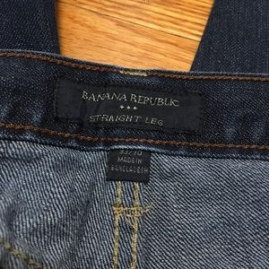 Banana Republic 33x30 Straight Leg Dark Wash Jeans